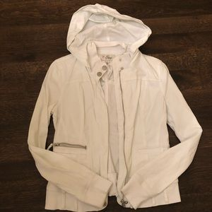 Light jacket with removable hood